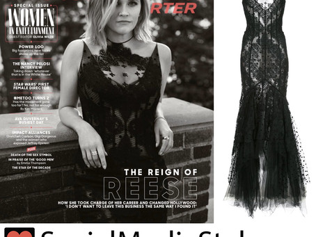 Reese Witherspoon's black lace gown from The Hollywood Reporter