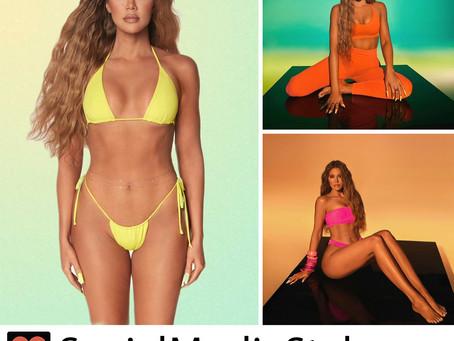 Khloe Kardashian's neon Good American swimsuits and activewear