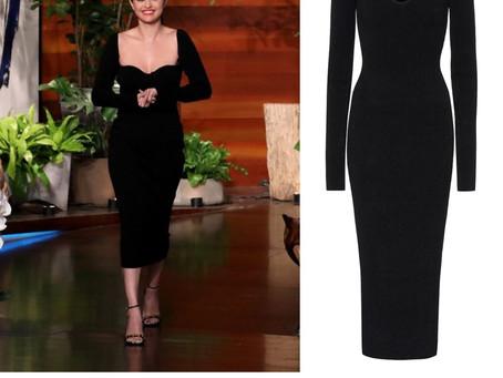 Selena Gomez's black dress from The Ellen DeGeneres Show