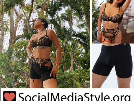 Rihanna's Savage X Pride rainbow lingerie and black boxer shorts