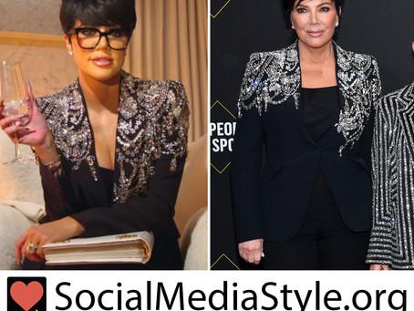 Khloe Kardashian and Kris Jenner's crystal embellished black blazer