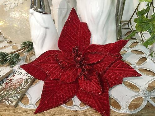 Poinsettia Roja Velvet texturizada