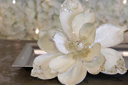 Magnolia con lentejuelas Ivory