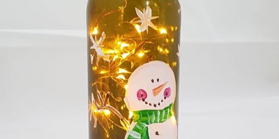 Taller Pintura en botellas luminosas Art5 & SOSDECOR