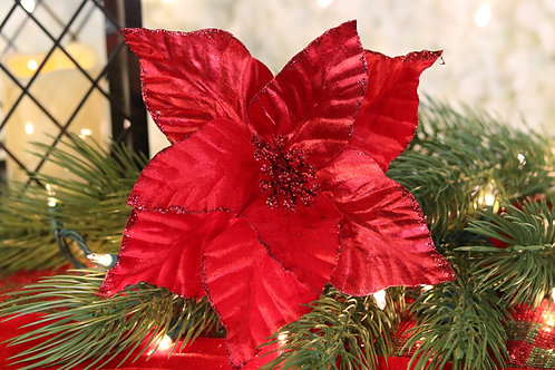 Poinsettia Roja Velvet y satin