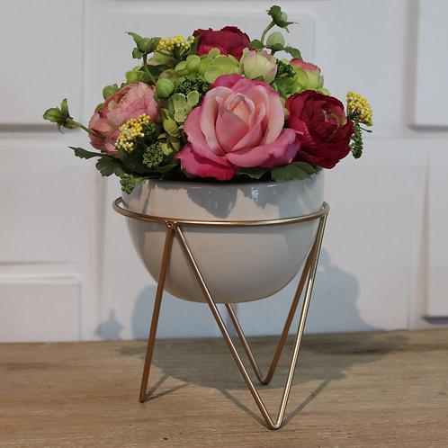 Rosas en tripode cup