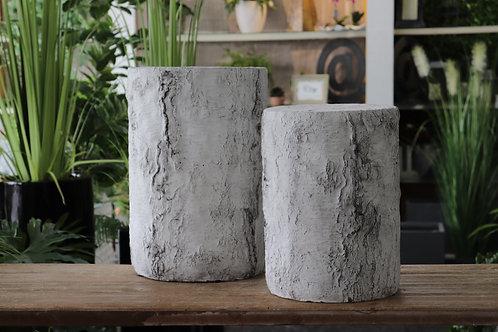 Pedestales imitación tronco