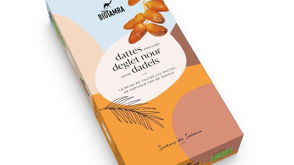 Dattes fraîches sur branchettes (Bio) Verse dadels op tak / Deglet Nour Algérie