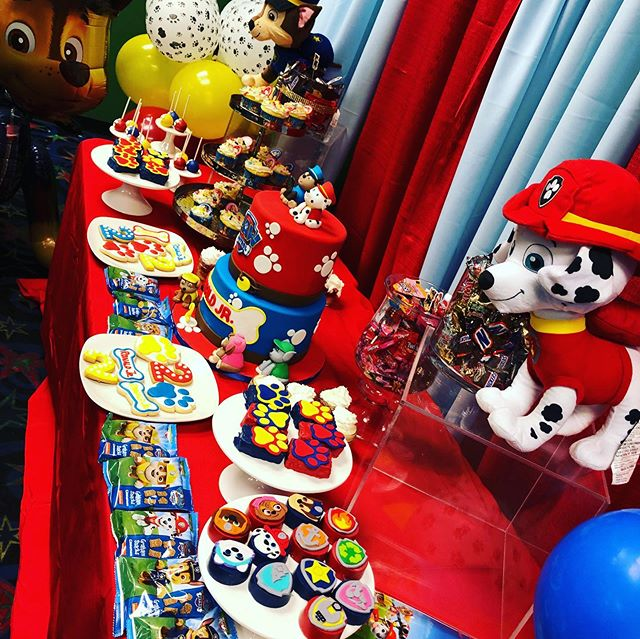 2nd Birthday Paw Patrol Sweet table