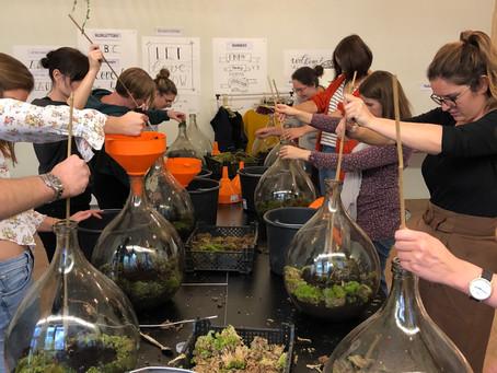 Biosferen maken in De Maekerij (Leuven)
