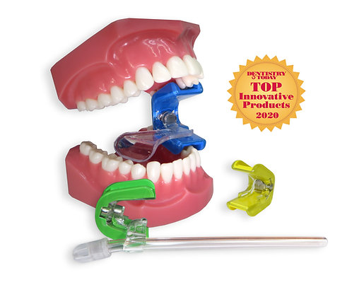 Ascentcare Dental Products Bite Buddy mouth prop bite block system Tongue Tamer tongue guard Saliva Sidekick saliva ejector