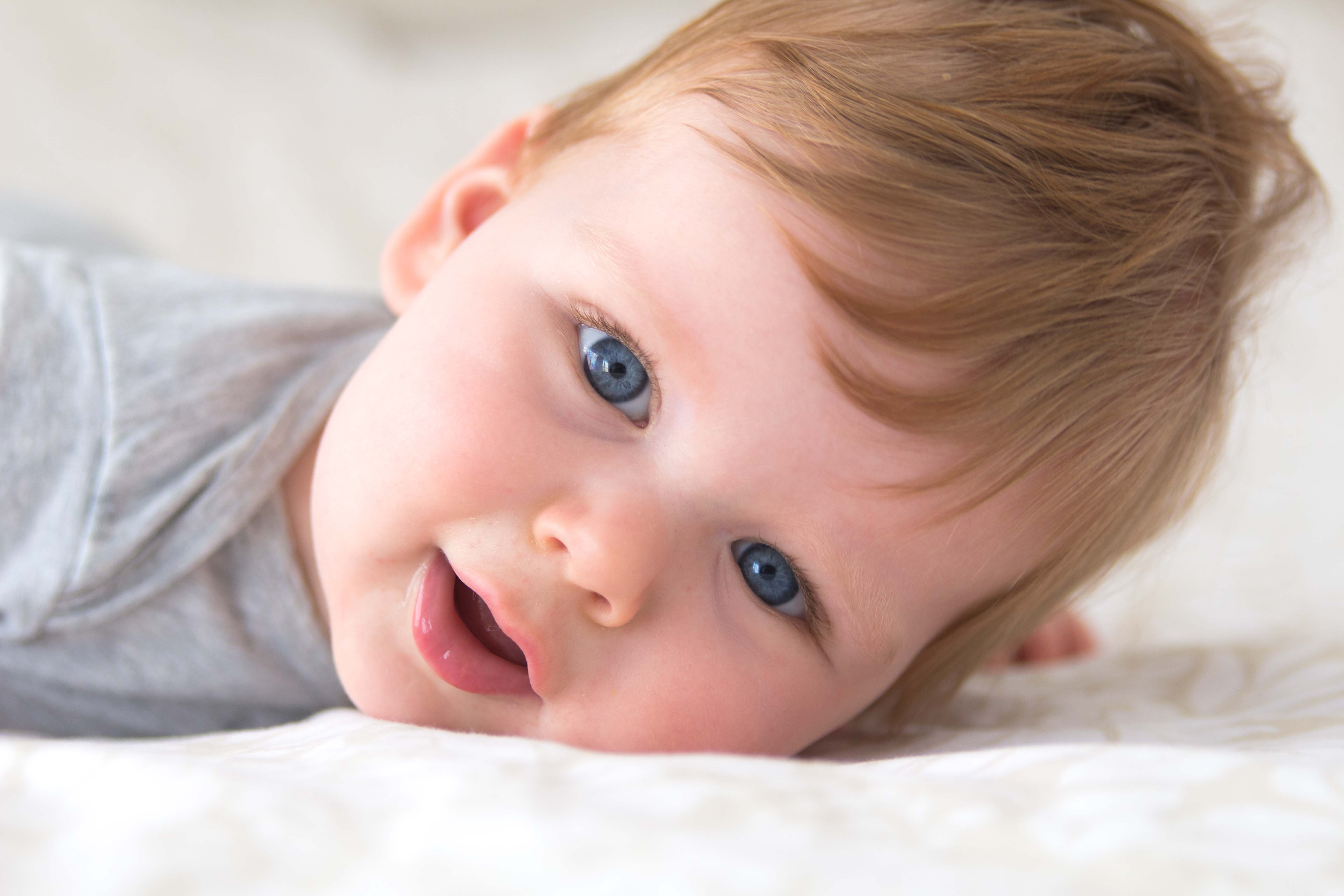 Baby blauwe ogen