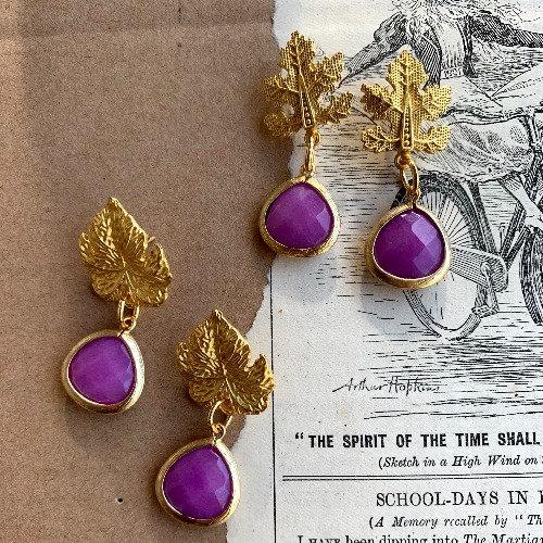 Brincos Purple