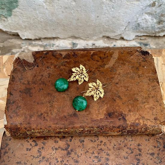 brincos parra pedra verde escura