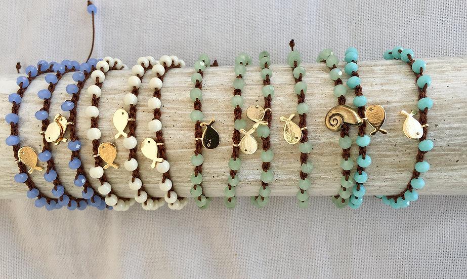 Pulseiras Ajustáveis Crochet MAR