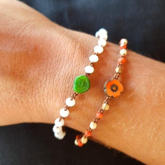 pulseiras ajustáveis handmade- conjunto