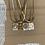 Thumbnail: colar RITA/MADREPÉROLA-fio aço malha achatada medalha rita&madrepérola