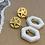 Thumbnail: brincos base estrela do mar hexágono madrepérola