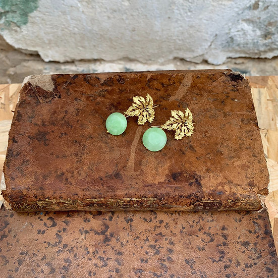 brincos parra pedra verde clara