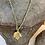 Thumbnail: colar comprido handmade, cristais checos folha com de Bronze