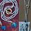 Thumbnail: colar pérolas do rio, enfiadas com nós- pedras semipreciosas ágata azul