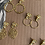 Thumbnail: Brincos   base  3 flores/ filigrana