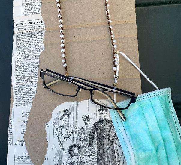 fios de óculos handmade -pérolas do rio-com fecho suporte de máscara