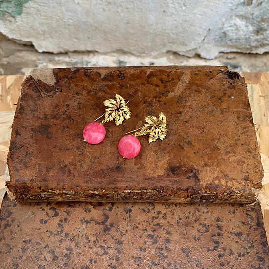 brincos parra pedra rosa