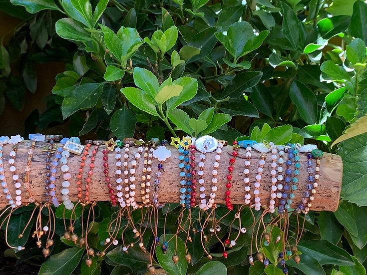 pulseiras ajustáveis handmade MAR