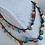 Thumbnail: colar comprido handmade  fio de seda pedras naturais fecho de aço