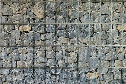 Granitmauer / Schichtstein - Sichtschutz