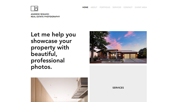 Commercial & Editorial website templates – Real Estate Photography