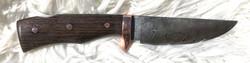 Hunting Knife Damast Wenge Kupfer