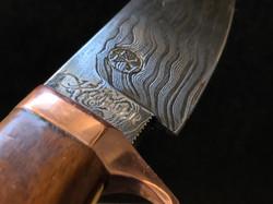 Hunting Knife Damast Walnut