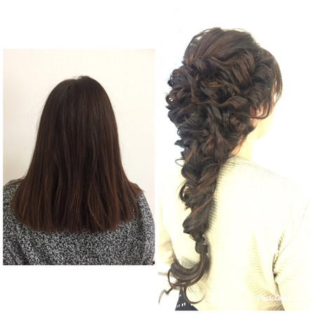 Hair extensions were used to give extra length