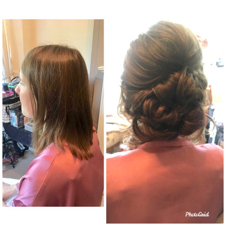 Extensions give fullness to this up do