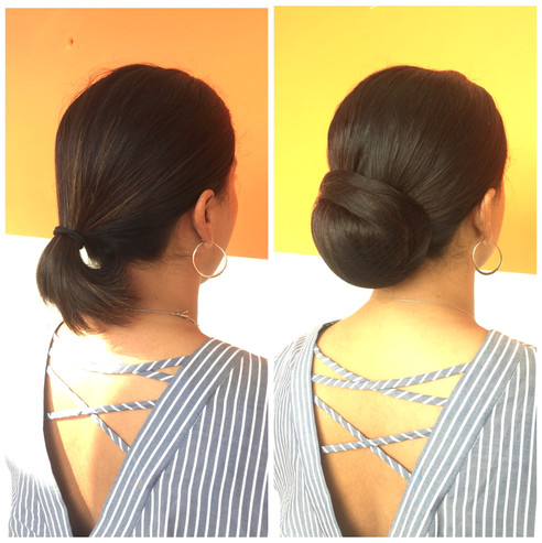 Adding a fake pony tail to give the illusion of length