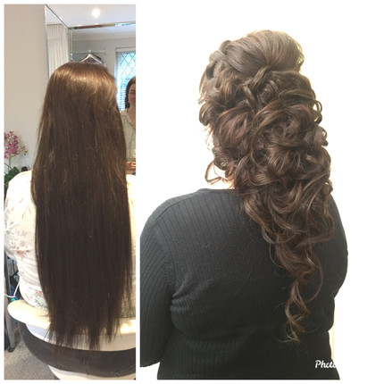 Styling very long hair extensions