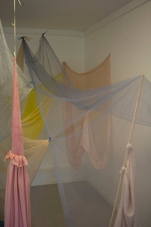 ongoing study about sculptures - textile installations and spaces with body as support, 2018-