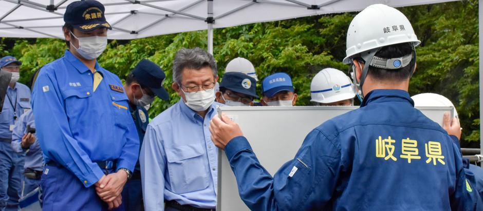 《7月23日》武田防災担当大臣に視察していただきました。