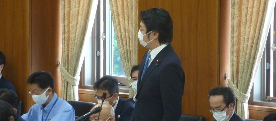 災害対策特別委員会で質問に立ちました。