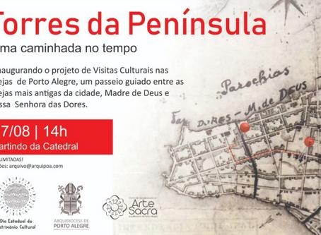 """""""As Torres da Península"""" realiza visitação gratuita a Catedral Metropolitana e igreja das Dores"""