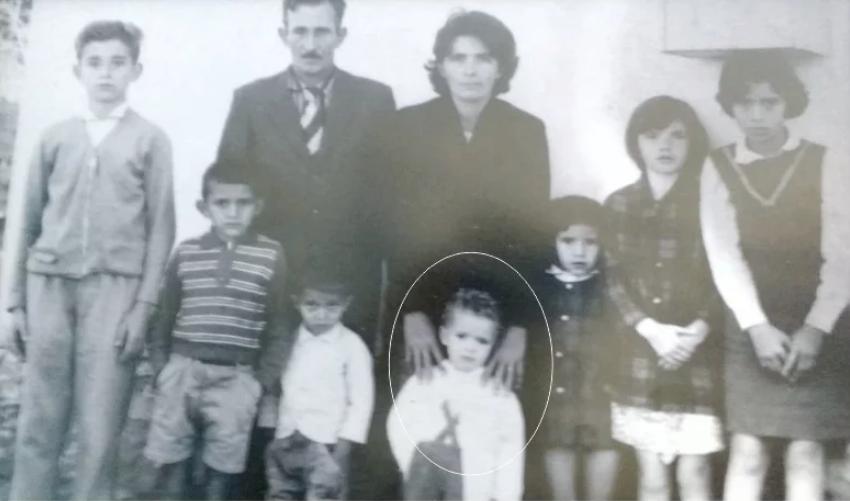 No detalhe, Pe. Silvio com a família