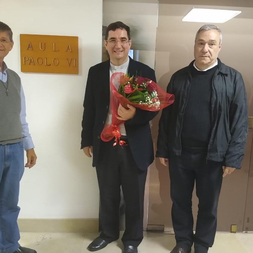 Da esquerda para a direita: padres Leonardo Reichert, Maikel Herold e Carlos José Monteiro Steffen.