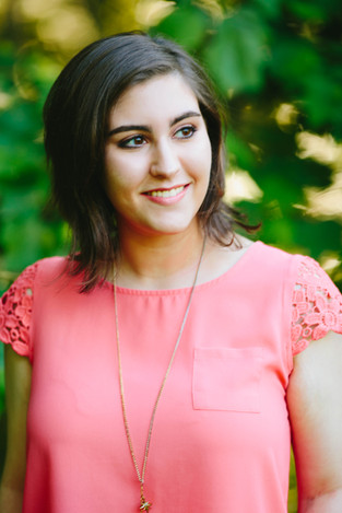 High School Senior portrait of girl in Wake Forest, NC