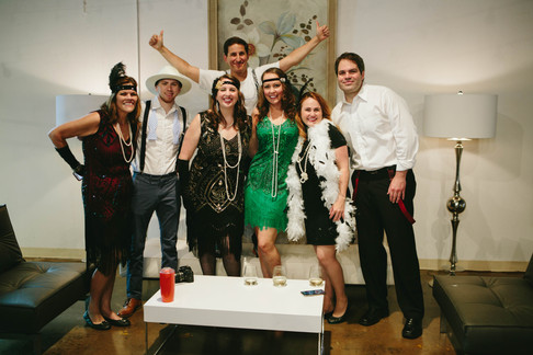 Corporate event photography in North Carolina of people dressed up like the Great Gatsby
