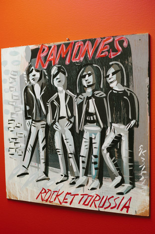 Painting of the Ramones