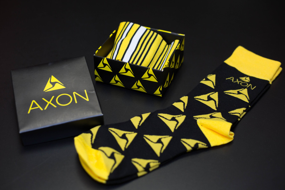 Brand photography for Brand Fuel showcasing promotional branded socks