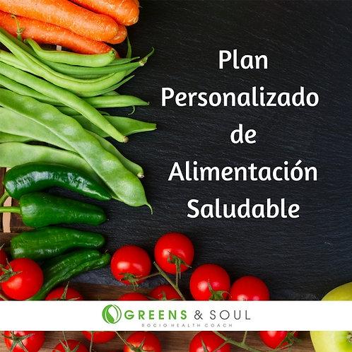 Plan personalizado de alimentación