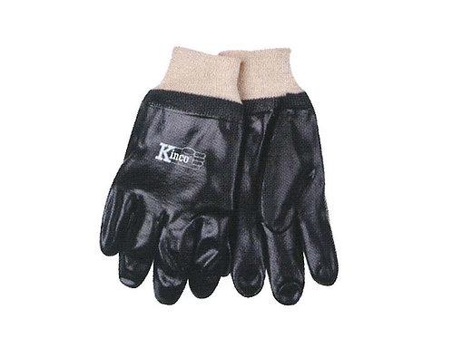 Smooth PVC Gloves Knit Wrist #7370